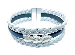 Leather Wrap Around Multilayer Bracelet Wristband Fashion Magnetic Bracelet