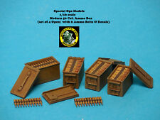 1/16 scale Modern 50 cal. Ammo Box (set of 4 Open) with Decals