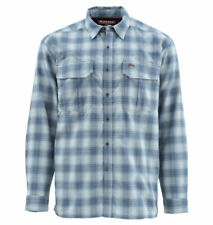 Simms Coldweather LS Shirt - Admiral Blue Plaid - M - Sale & Free US Shipping