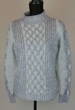 Debenhams The Collection Jumper Grey Chunky Knit Funnel Neck Warm Winter Size 12