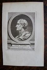 ISAAC NEUTON . NEWTON . PORTRAIT, GRAVURE ORIGINALE , 1760