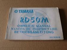 MANUEL UTILISATEUR DU PROPRIETAIRE YAMAHA RD50 1978- Owner's manual RD 50
