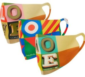 Limited Edition Sir Peter Blake Face Coverings  (3 in a pack)