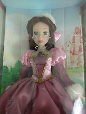 Brass Key Disney Princess Belle Beauty Beast 2005 Porcelain doll NIB Winter Fur