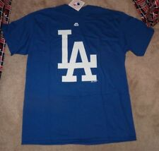 NEW MLB LA Los Angeles Dodgers Baseball T Shirt Men L Large - BIG LOGO- NEW NWT