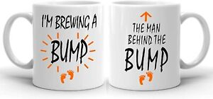 CiderPressMugs® Brewing A Bump Couple's Mug Set New Parent Gift Mum and Dad