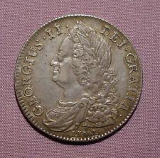 1745 KING GEORGE II HALFCROWN - LIMA - Nice Grade & Toning