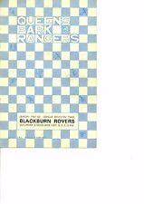 Queens Park Rangers v Blackburn Rovers 1967/68  division 2