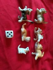 6 Miniature Cat Ornaments