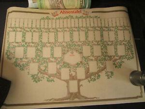 RNK Verlag Schmuck-Ahnentafel Skizzierter Baum, 70 x 50 cm, 6 Generationen