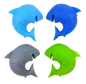 Tea Infuser - Edge of your cup Mr. Shark - Silicone Loose Leaf Tea Filter