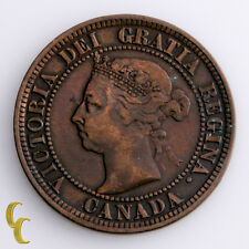1891 - SL - SD - Obverse # 3 Canada Cent Coin,  KM# 7