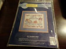 Needle N' Hoops Counted Crossstitch Kit #552 Eat Dessert First #4459