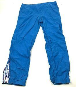 VINTAGE Fila Pants Size Extra Large Blue Track Pant Nylon Monochrome Men 90s USA
