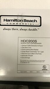 Hamilton Beach HDC200S single cup coffee maker - Black