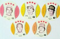 1976 Isaly's Disc HOF 5 Pc Lot Tom Seaver,Bench,Jackson,Mike Schmidt,Hank Aaron