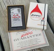 Vintage 1965 B & M Towing Co. Houston, Texas Slim Zippo Lighter / Unstruck Mint!