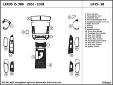 Lexus IS 250/300 2006-2008 Automatic with nav Real Carbon Fiber Dash Kit Trim