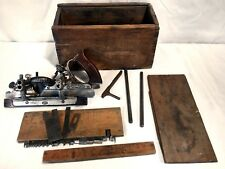 Vintage Stanley #45 combination plow and beading plane original box with knives
