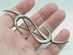 Vintage Silver Tone Modernist Pin Brooch