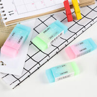 Cute Soft Durable Flexible Cube Colored Pencil Rubber Erasers For School Kids