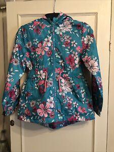 Girls George Fleece Lined Floral Jacket Age 8/9