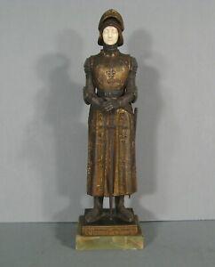 Jehanne Die Heilige Jeanne D'Arc Kriegerin Skulptur Legierung Antik