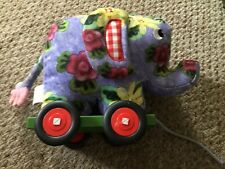 Driver dans story soft floral material children's pull along elephant