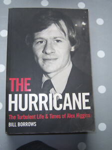 'THE HURRICANE'  ALEX HIGGINS BIOGRAPHY BY BILL BURROWS  PAPERBACK