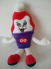 "Dairy Queen DQ Cherry Dip Ice Cream Cone 7"" Plush Beanie Pal Toy"