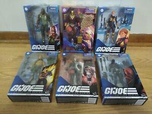 Hasbro GI Joe Classified Wave 1 Snake Eyes, Destro, Scarlett Sealed Lot of 6!!!