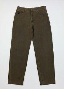 Trussardi jeans uomo usato W38 tg 52 gamba dritta boyfriend denim marrone T6844