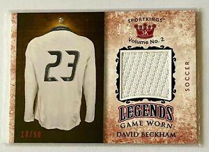 Sports Kings ~ David Beckham ~ Game-Worn ~ Jersey Patch Card ~ 18/50