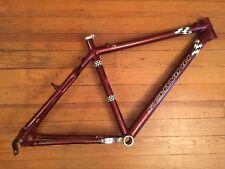 """Schwinn Homegrown Aluminum Mountain Bike Frame 17"""" Medium USA Bassboat Red Canti"""