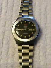 Vintage Omega Chronometer Watch Black Dial F300 Electronic Wristwatch Men's Rare