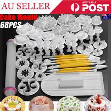 68 PCS Flower Fondant Cake Sugarcraft Decorating Kit Cutters Tools Mold Sets