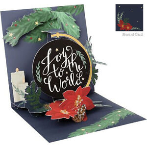 3D Pop Up Greeting Card from Up With Paper - JOY TO THE WORLD - UP-WP-X-1251