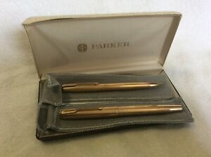Parker 61 Gold Filled Fountain and Pencil Set in Box