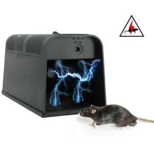 Electronic Mouse Trap Mice Killer Rat Pest Control Electric Zapper Rodent UK