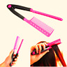 Fashion V Type Hair Straightener Comb DIY Salon Hairdressing Styling Tool_UK