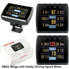 Car SUV OBD2 Gauge w/ Holder Driving Speed Meter Fuel Water Temp Digital Display
