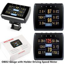 Car SUV OBD2 Gauge w/ Holder Driving Speed Meter Fuel Water Temp Digital Display