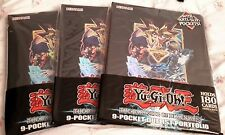 3 x Yu-Gi-Oh! The Dark Side of Dimensions 9 Pocket Duelist Portfolio Holds 180