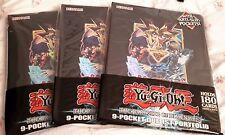3 x Yu-Gi-Oh! The Dark Side of Dimensions 9 Pocket Duelist Portfolio Holds 180