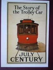 POSTCARD 1905 POSTER - THE STORY OF THE TROLLEY BUS