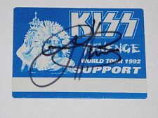 Kiss Autographed Gene Simmons Backstage Pass Hand Signed