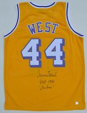 Jerry West  Autographed LA Lakers NBA Basketball Yellow Stat Jersey ASI Proof