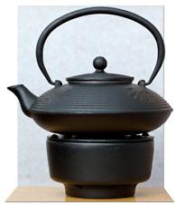 Tea Warmer & Cast Iron black calligraphy Tetsubin teapot kettle 0.8L
