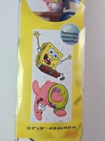 """Spongebob Squarepants Wall Decals GIANT Nickelodeon Stickers Removeable 39"""" x 17"""