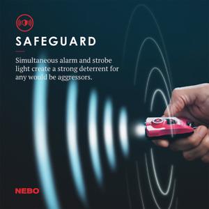 Nebo MyPal Rechargeable 115db Personal Alarm & 400 Lumen Keychain Flashlight